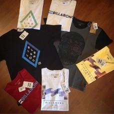 12 Camisetas Surf Atacado + 1 Bermuda Jeans de Brinde