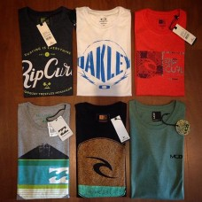 24 Camisetas Surf Especiais Atacado  + 1 Bermuda Jeans Promoção